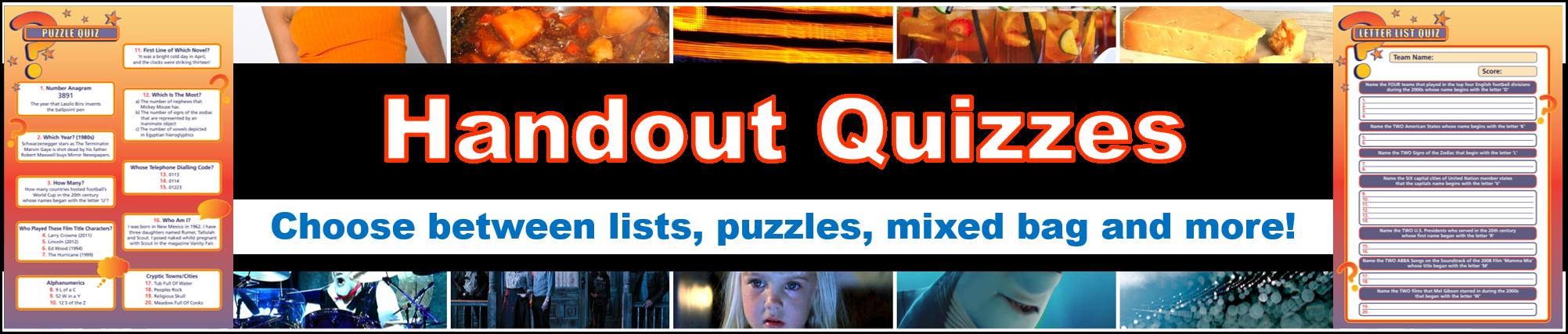 Handout Quizzes