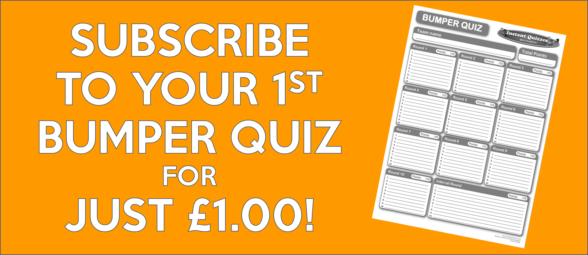 Bumper Quiz - Pay Monthly