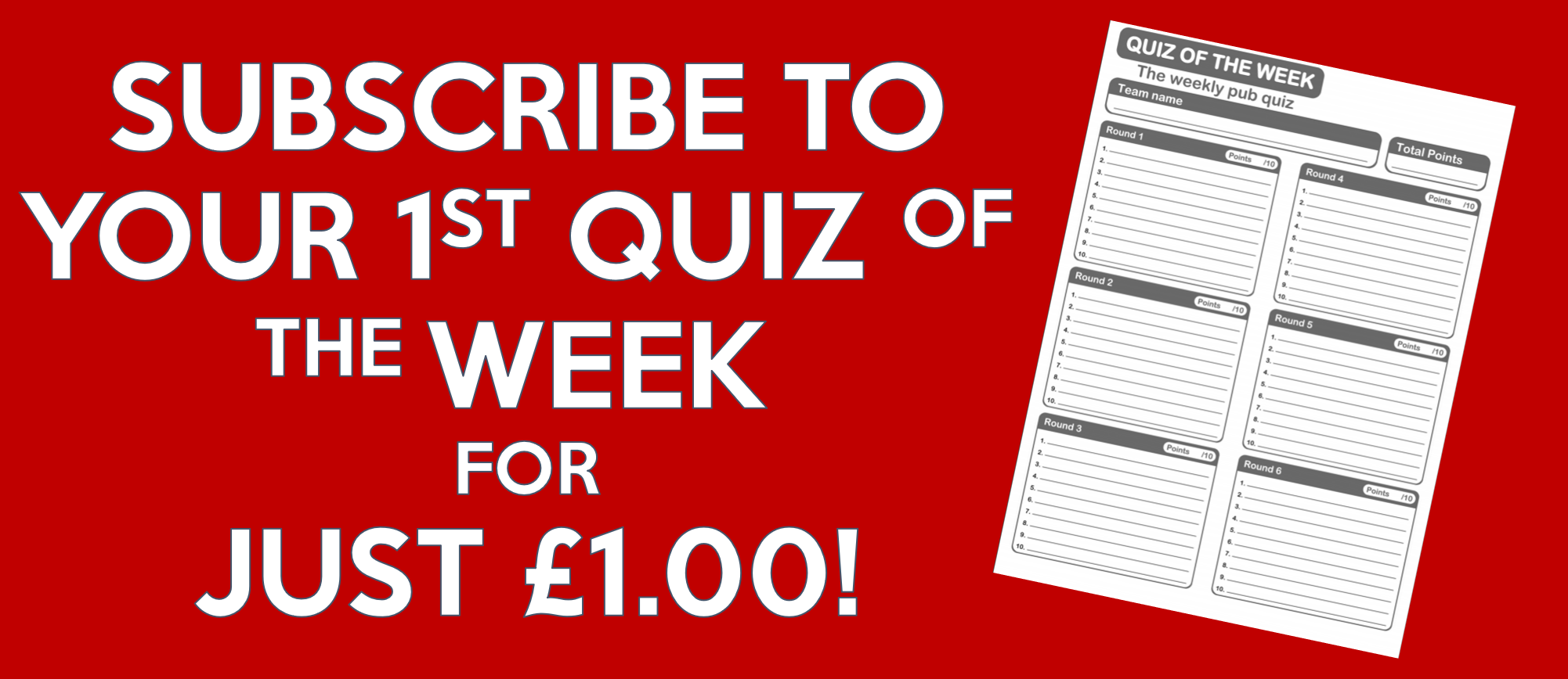 Quiz of the Week - Pay Monthly