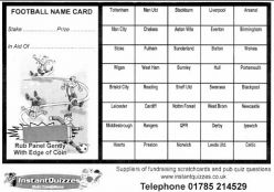 40 Square Football Scratchcards