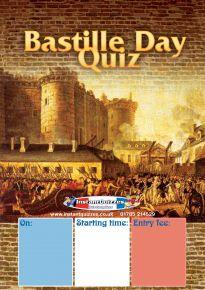 Free Bastille Day Quiz Poster