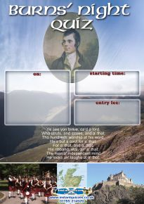 Free Burns Night Quiz Poster