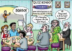Quiz Bingo sent by post