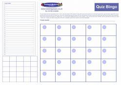 Bingo Quiz Pack 798