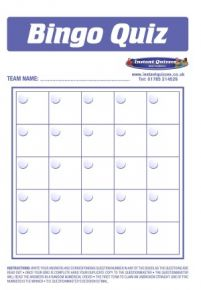 Christmas Bingo Quiz Pack 3