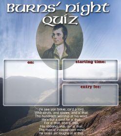 Quickfire - Robert Burns Quiz