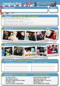 Queen Elizabeth II handout quiz