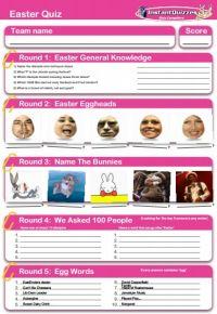 Easter Handout Quiz 1