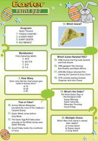 Easter Puzzle Quiz