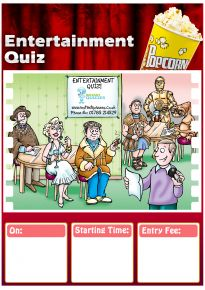 Free Entertainment Quiz Poster