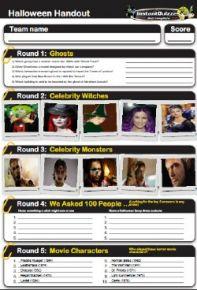 Halloween Handout Quiz 4 - HALLHO4