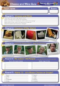 Cheese and wine handout quiz