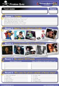 Pirate handout quiz
