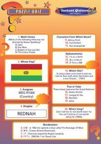 Handout Quiz 216 - Puzzle Quiz