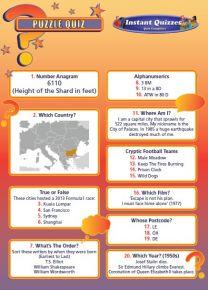 Handout Quiz 217 - Puzzle Quiz