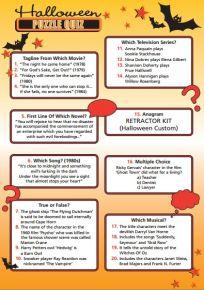 Halloween Puzzle Quiz - HO253