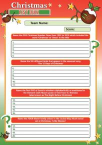 Christmas List Quiz