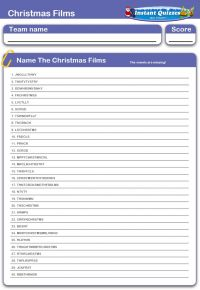 Christmas Films - Missing Vowels
