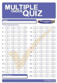 Multiple Choice GK Pub Quiz 93