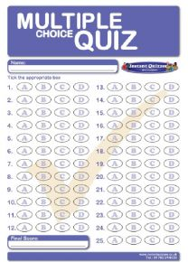 Free Multiple Choice Answer Sheets