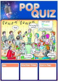 Free Pop Quiz Poster