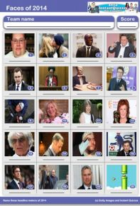Faces of 2014 Picture Quiz - PR1411