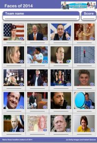 Faces of 2014 Picture Quiz - PR1412