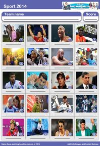Sporting Faces 2014 Picture Quiz - PR1420