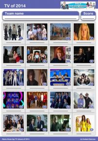 TV of 2014 Picture Quiz - PR1422