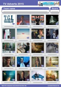 2015 TV adverts picture quiz - PR1514
