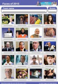 Faces of 2015 picture quiz - PR1515