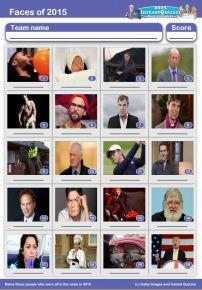Faces of 2015 picture quiz - PR1516