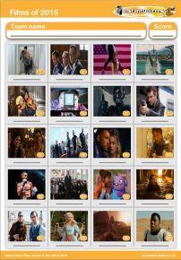 Films of 2015 picture quiz - PR1518