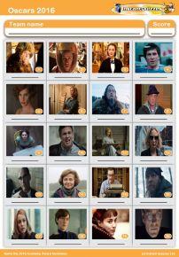 Oscar Nominees 2016  Picture Quiz