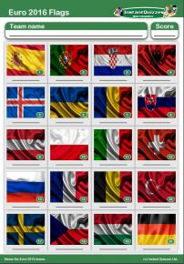 Euro 2016 Flags Picture Round - PR1583