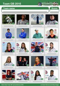 Team GB 2016 Picture Quiz - PR1600