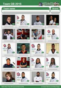 Team GB 2016 Picture Quiz - PR1601