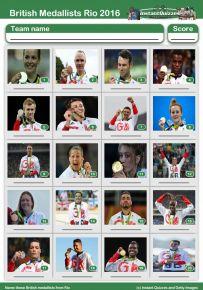 Team GB Medal Winners 2016 Picture Quiz - PR1611