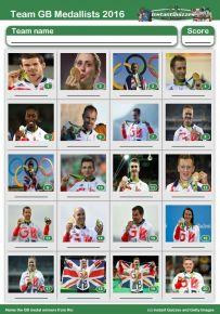 Team GB Medal Winners 2016 Picture Quiz - PR1612