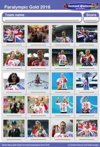 Paralympians 2016 Picture Quiz - PR1619