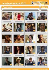 Oscar Nominees 2017 Picture Quiz - PR1674