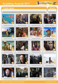 Oscar Nominated Films 2017 Picture Quiz - PR1675