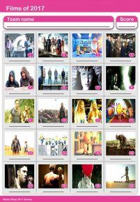 Films of 2017 Picture Quiz - PR1776