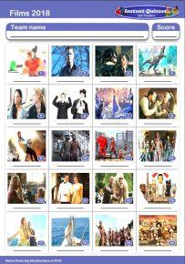 Films of 2018 Picture Quiz - PR1908