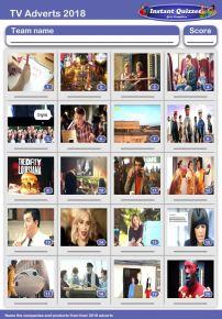 TV Adverts of 2018 Picture Quiz - PR1917