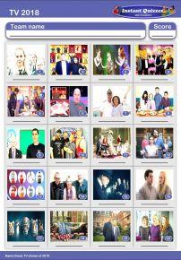 TV of 2018 Picture Quiz - PR1919