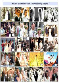 Movie Weddings Picture Quiz - PR1931