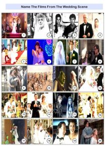 Movie Weddings Picture Quiz - PR1932