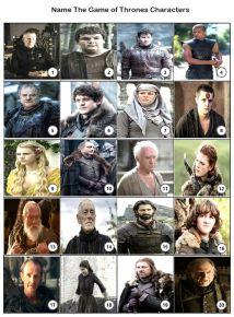 Game of Thrones Picture Quiz - PR1952