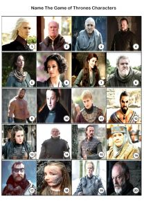 Game of Thrones Picture Quiz - PR1953